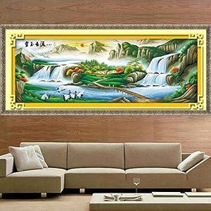 美特卡卡十字绣 风景系列ks- 9099 金玉流长 最新款客厅大画 精准印花
