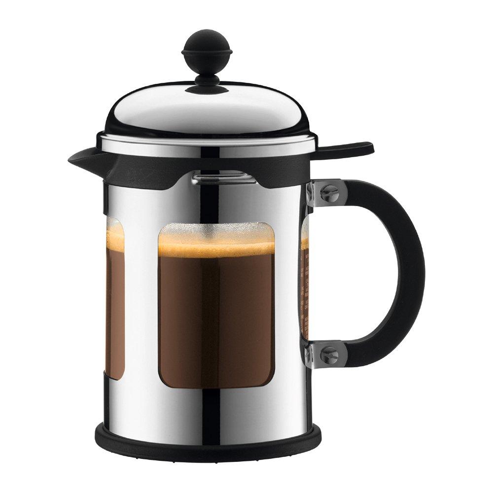 bodum 波顿 chambord金属按压不锈钢咖啡法压壶 11171
