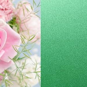 彩色玻璃贴 磨砂贴浴室窗户贴纸 防紫外线 不透明 122宽2米长 浅绿色