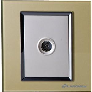 LANGNEW朗新轻点系列电视玻璃插座(香槟金)LN-Q001TV-CG