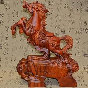 非洲黄花梨木料实木雕马工艺品摆件红木雕刻生肖马大