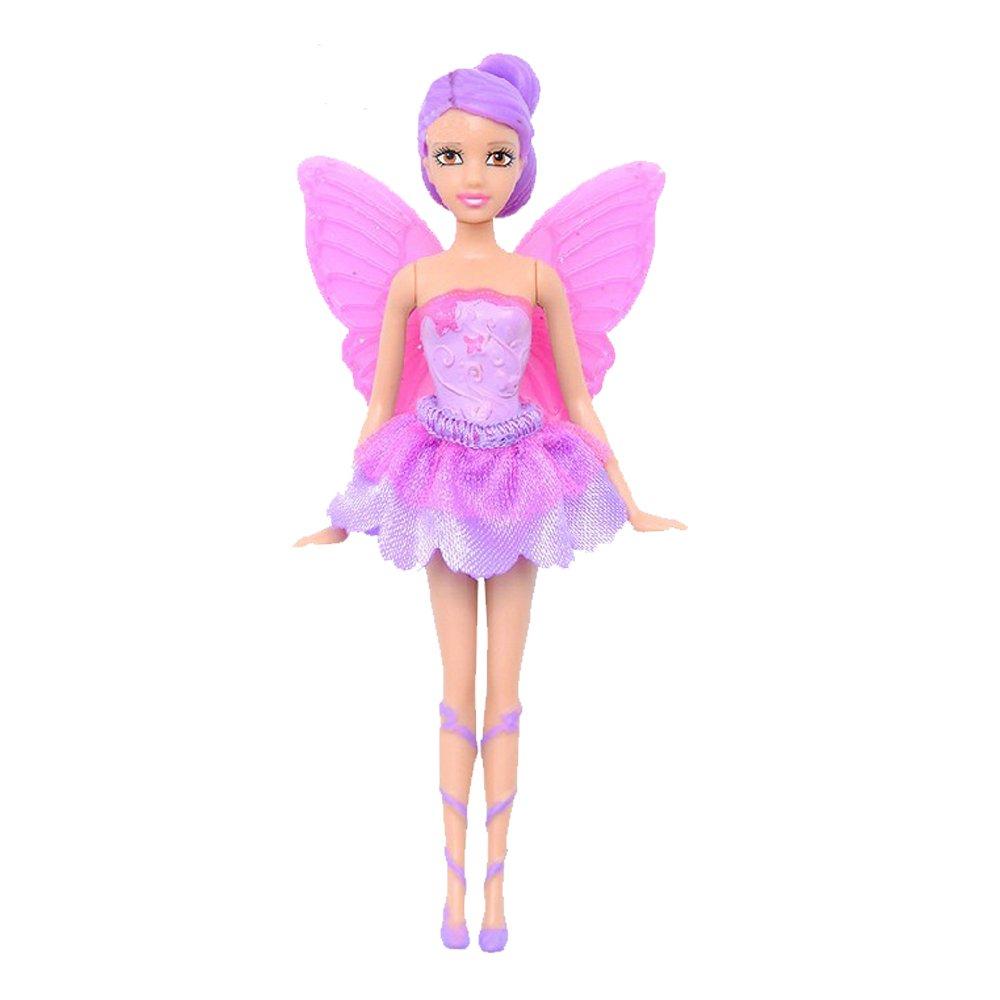 barbie 芭比 蝴蝶仙子与精灵公主之小娃娃y6385 (紫色头发6413)