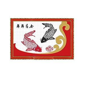 恋美印布十字绣 36427年年有余(图案印在布上无需画格) 中格 11CT