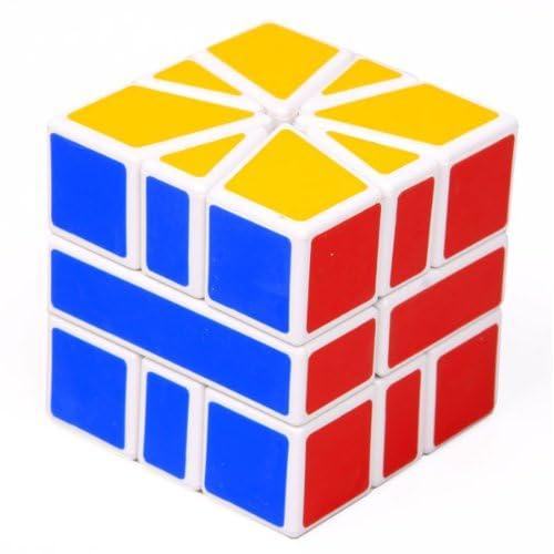 梯色白色sq1异形魔方高品质比赛专用魔方