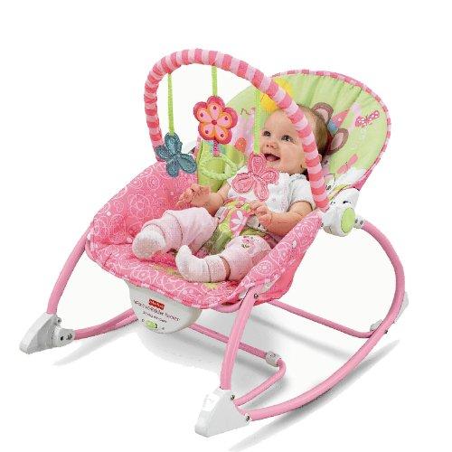 费雪Fisher Price Y4544粉嫩小兔多功能轻便摇椅¥286 叠加满¥499-100