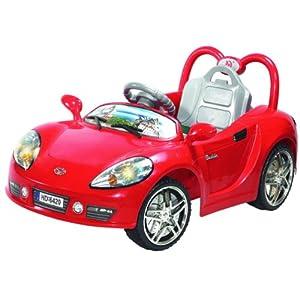 华达 hd6420 童车 卡通版法拉利跑车 遥控电动车 儿童电动车高清图片