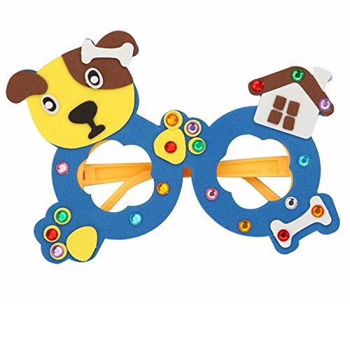 幼儿童手工贴画diy制作材料3d立体粘生日玩具教材包 (小狗)
