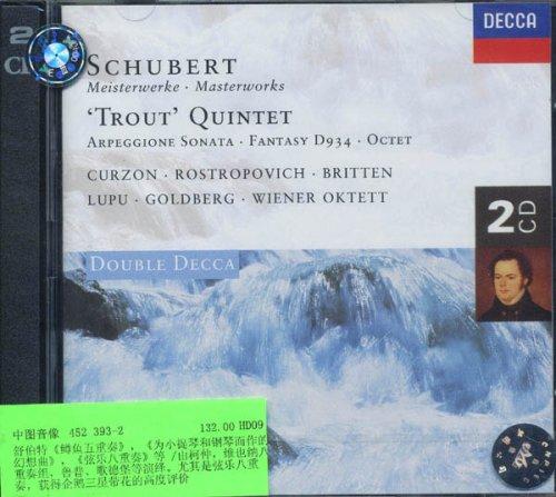 进口CD 舒伯特名曲选二 鳟鱼五重奏,八重奏等 452 393 2