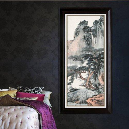 林格印象 山水风景水墨中国画 玄关挂画 客厅装饰画 jze1002 60*100