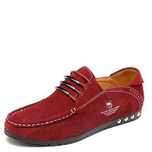 vancamel 西域骆驼 春夏男士休闲鞋豆豆鞋韩版潮流驾车鞋简约舒适反绒套脚鞋D13031010