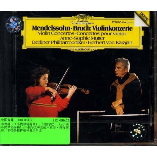 进口CD 布鲁赫 小提琴协奏曲,门德尔松 e小调小提琴协奏曲 CD 400