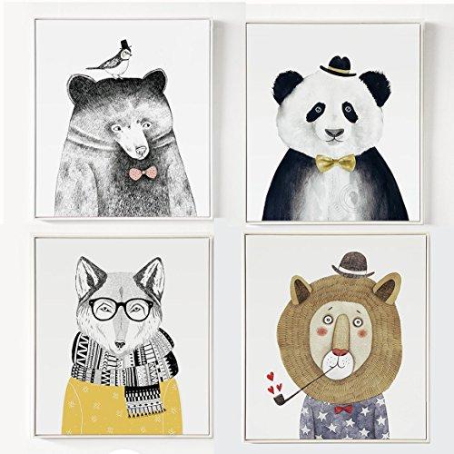 ankh 熊猫先生 动物主题系列 现代简约 艺术装饰画 现代 欧式 壁画