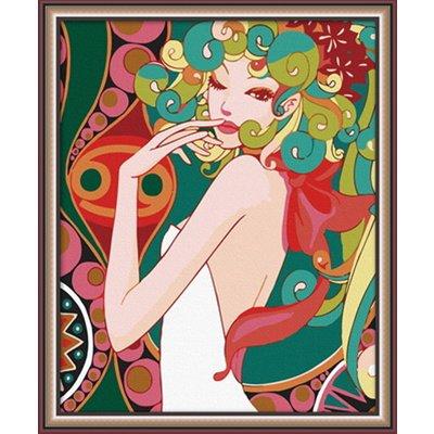 佳彩天颜 数字油画diy 客厅人物风景情侣装饰画 时尚小娇娃 时尚小