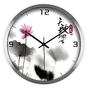 创意艺术时尚中国风中式水墨荷花天地人合