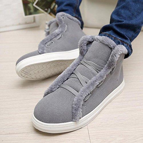 冬季 时尚加绒保暖休闲高帮男鞋个性韩版潮流棉鞋韩版板鞋短靴棉靴