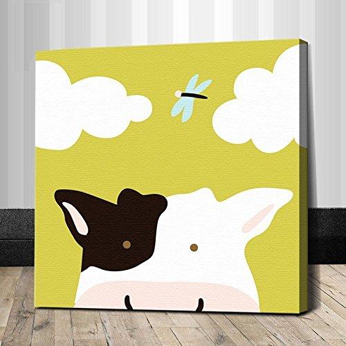 真心意动物连连看系列diy数字油画卡通客厅卧室儿童亲子益智手绘画