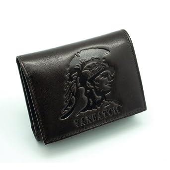 vanbatch 威品 真皮钱包卡包实用多卡位名片包 个性印第安人头像 vw