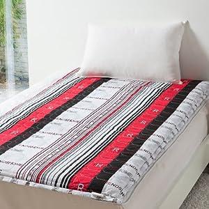 梦田家纺 日式榻榻米软床垫 防滑垫 全棉床褥子正品 特价 1.8m(6英尺)床 紫色条纹