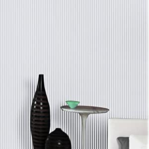 爱朵 现代简约细竖条客厅餐厅走廊无纺布硅藻泥除甲醛