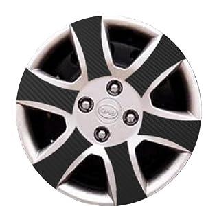 子浩 汽车轮毂贴纸 比亚迪F3 F3R F0 D款 碳纤维轮毂贴纸 高档加厚带高清图片