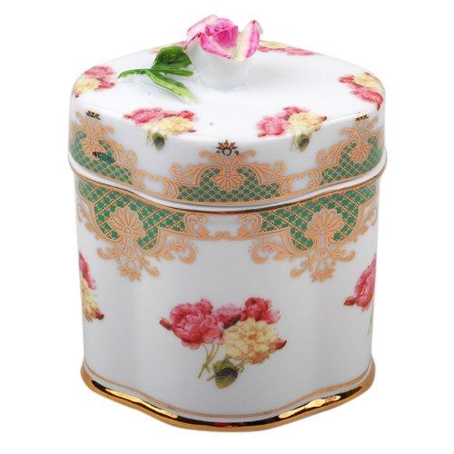 彩色手绘玫瑰茶叶