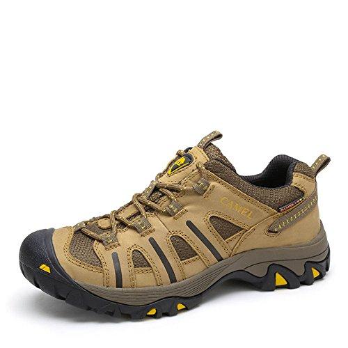 Camel 骆驼户外徒步鞋 2014秋季新款牛皮耐磨户外鞋防滑徒步鞋A432309025