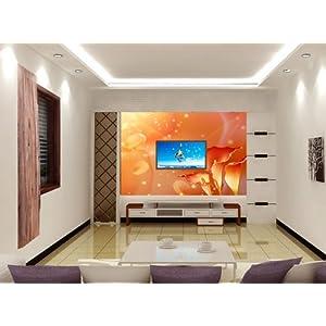 修风格|简约百合电视沙发背景墙|卧室大型壁画壁纸