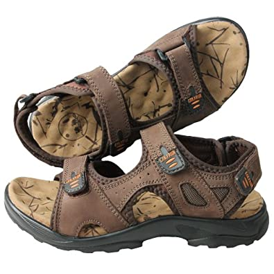 CAM.GNPAI 骆驼队长 男式 户外 沙滩鞋 凉鞋 卡其 217008600 【支持货到付款】