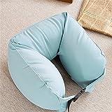 馨窝U型枕微粒子旅行枕趴睡枕飞机肩枕午睡枕头护颈枕(浅咖) 【馨窝