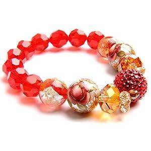 sasa韩国时尚流行款水晶雕花手绘珠手链-极致奢华之写意玫瑰醉丹霞