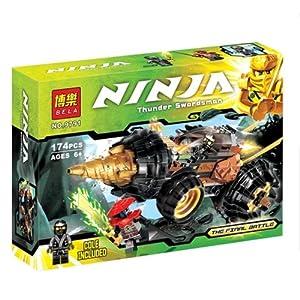 乐高式幻影忍者系列忍者寇的钻土机益智拼装积木儿童