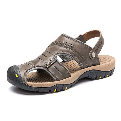MULINSEN 木林森 男凉鞋真皮男士运动户外休闲鞋韩版透气沙滩鞋