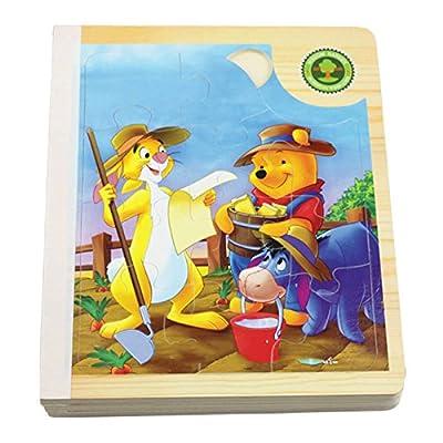 星屿 木玩 玩具 卡通漫画 立体拼图 森林农场动物播种