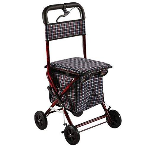 式助行器助步助力车进口加厚材料老年人购物手