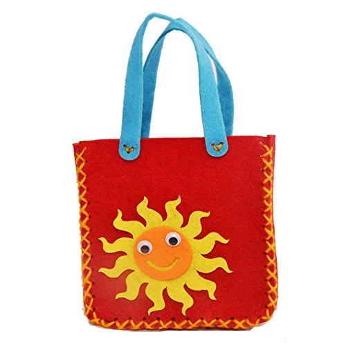 幼儿园手工制作 儿童diy手工材料 无纺布不织布 手工包包 (小太阳)