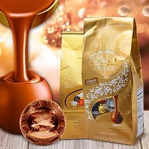 Lindt 瑞士莲 美国琳达夹心巧克力球5种口味混合礼袋 600g 大约50粒