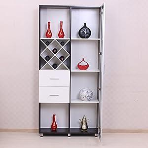 美宅 现代简约门厅/客厅酒柜时尚装饰展示柜隔断柜储物柜酒柜-3