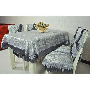 尚品屋 欧式高档布艺餐桌布 椅子垫 坐垫 桌椅套 餐椅