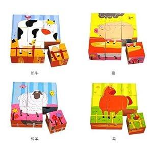 陶陶木 儿童立体动物拼版拼图-六面画 (农场)