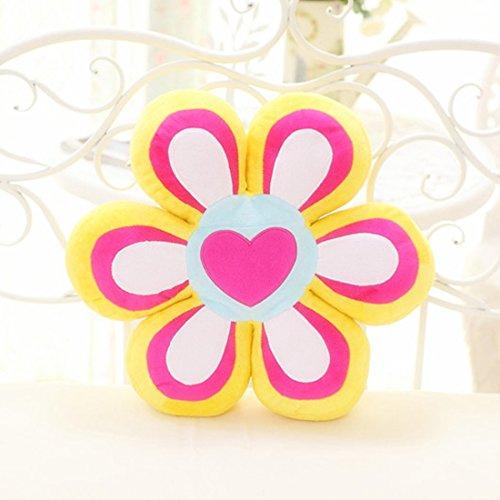 上花轿 创意玩具可爱六瓣爱心花朵抱枕花瓣花型枕头沙发抱枕靠垫坐垫