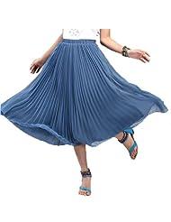 半身长裙半身裙 深湖蓝色
