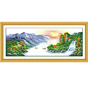 十字绣成品 江山如画风景系列