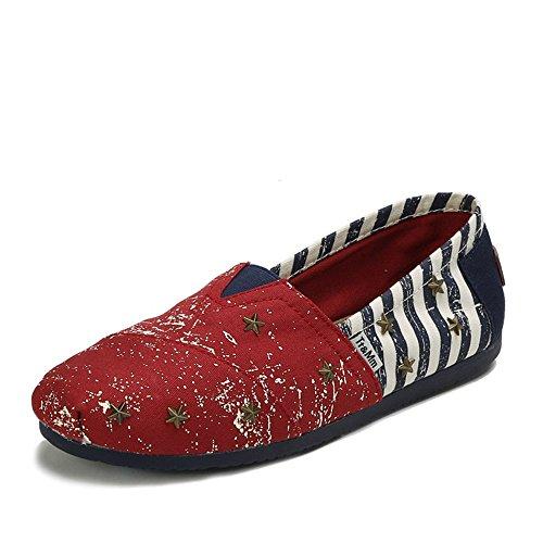 Tt&Mm 汤姆斯 春夏季新款柳钉韩版休闲鞋透气一脚蹬时尚男士帆布鞋461111M