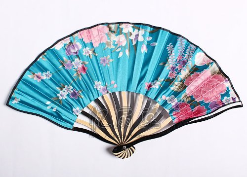 忆扇堂 2015日本和风扇子折扇 女扇龙骨扇 黑白夹色
