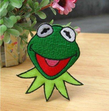 凤曦kermit frog 笑脸的青蛙 刺绣布贴补丁贴图片图片
