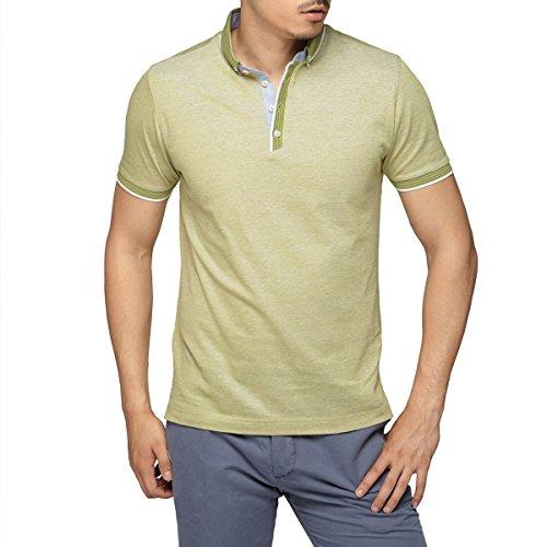 柏品 意大利制造 男装轻奢品牌 扣领立领男士短袖t恤 纯色polo衫