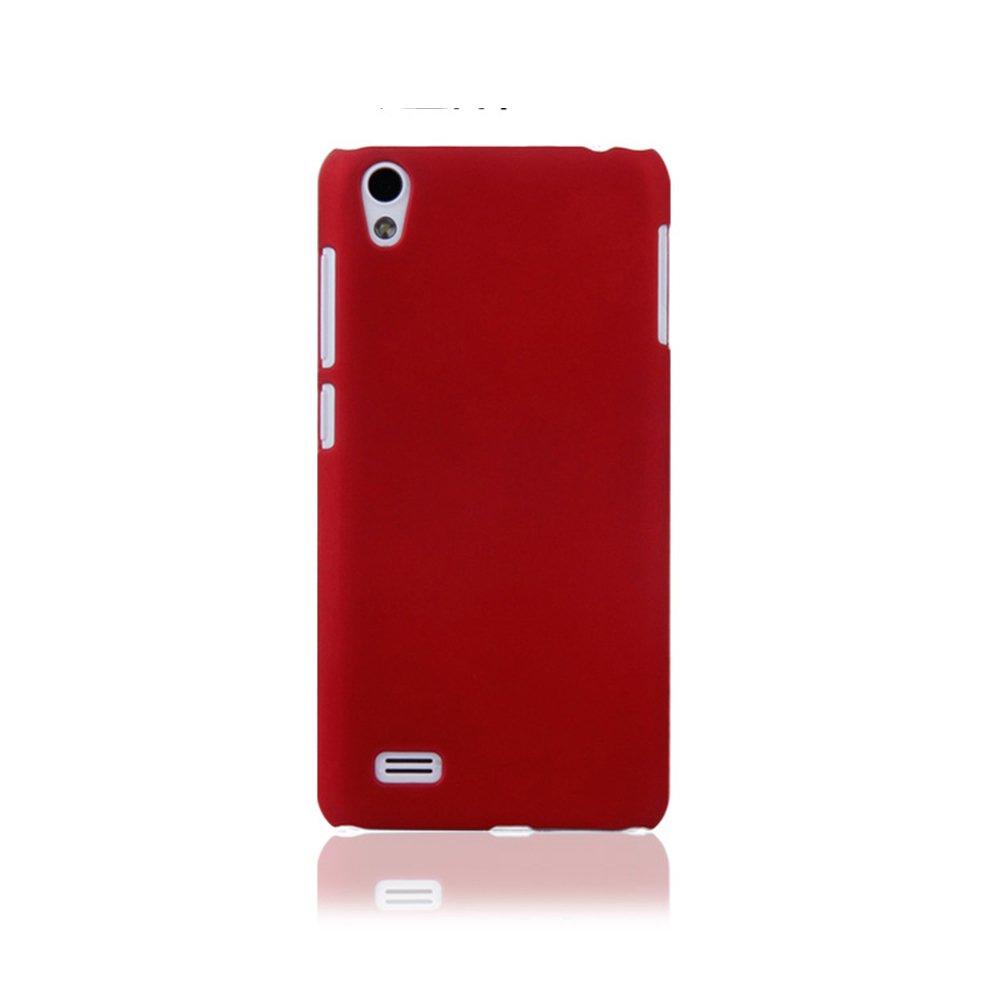 手机套vivo_摩品 步步高 vivo y17 y17t 手机套 清水套 手机壳 磨砂硬壳红色