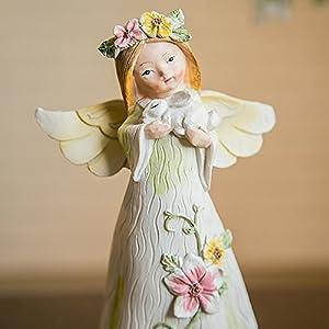 美其美纳 欧式树脂天使娃娃摆件田园家居饰品摆件客厅