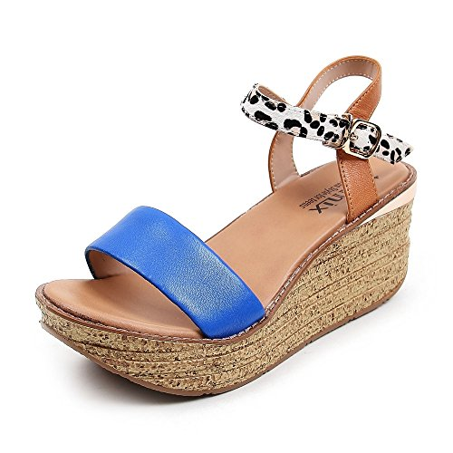 Teenmix 天美意 天美意夏季专柜同款羊皮女皮凉鞋专柜 6YF06BL5