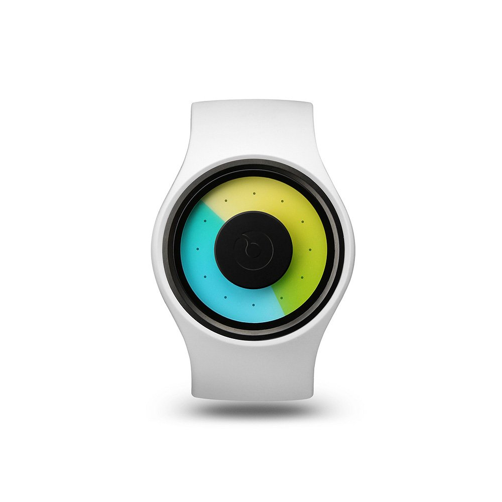 ziiiro超现代梦幻时尚概念创意手表 无指针多色漩涡太极表盘腕表图片